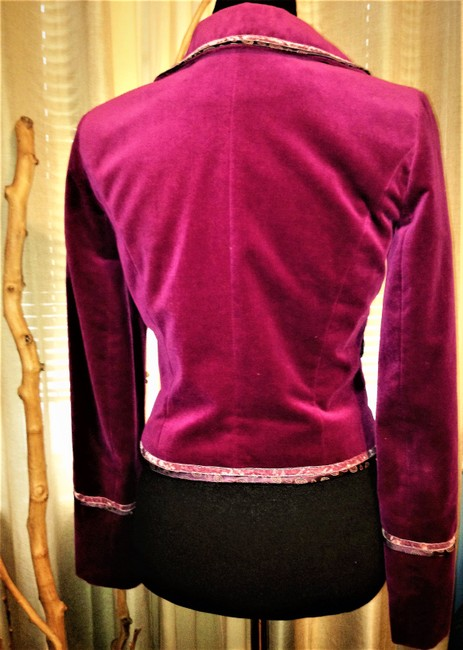 Cynthia Steffe Velvet / Velor Night Out Career Purple Violet Blazer Image 3