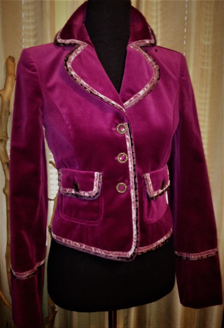 Cynthia Steffe Velvet / Velor Night Out Career Purple Violet Blazer Image 4