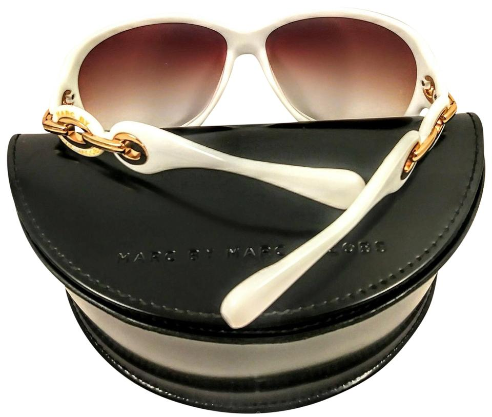 d3f39413c716 Marc by Marc Jacobs Marc by Marc Jacobs white and gold sunglasses ...