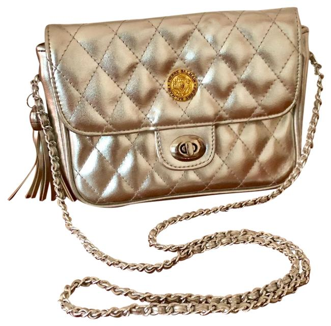 Item - Quilted Chain Purse Silver Leather Shoulder Bag