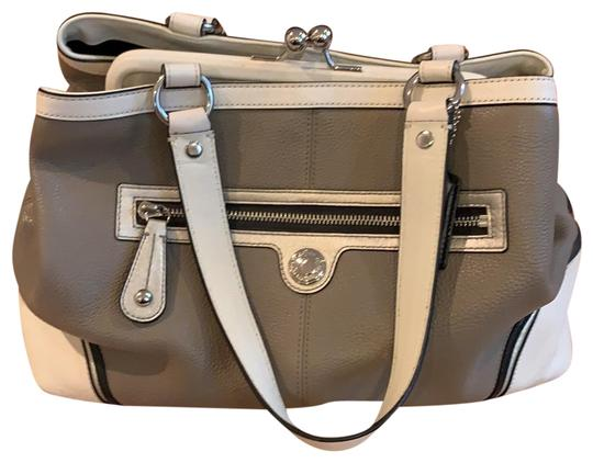 Preload https://img-static.tradesy.com/item/24807165/coach-tote-grey-and-white-leather-satchel-0-1-540-540.jpg