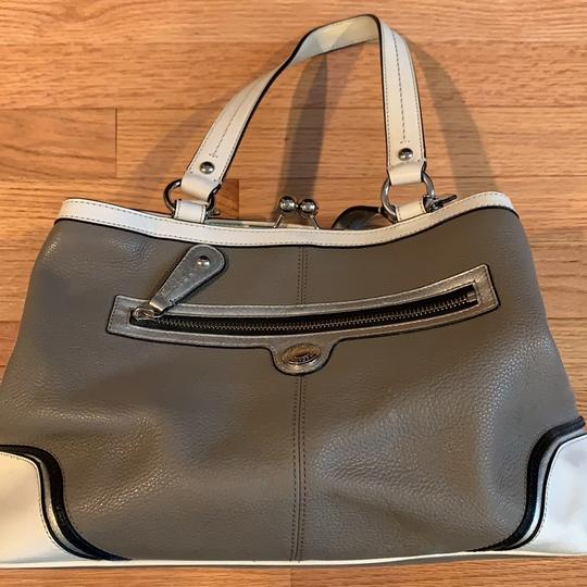 Coach Satchel in grey and white Image 1