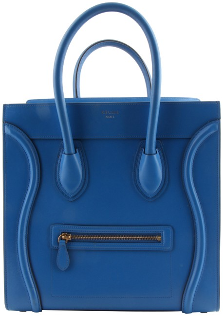 Item - Made Tote Luggage Micro In Blue Calfskin Leather Shoulder Bag