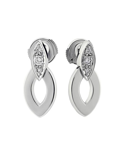 Item - White Gold Estate 18k Marquise Diamond Drop 0.20 Earrings