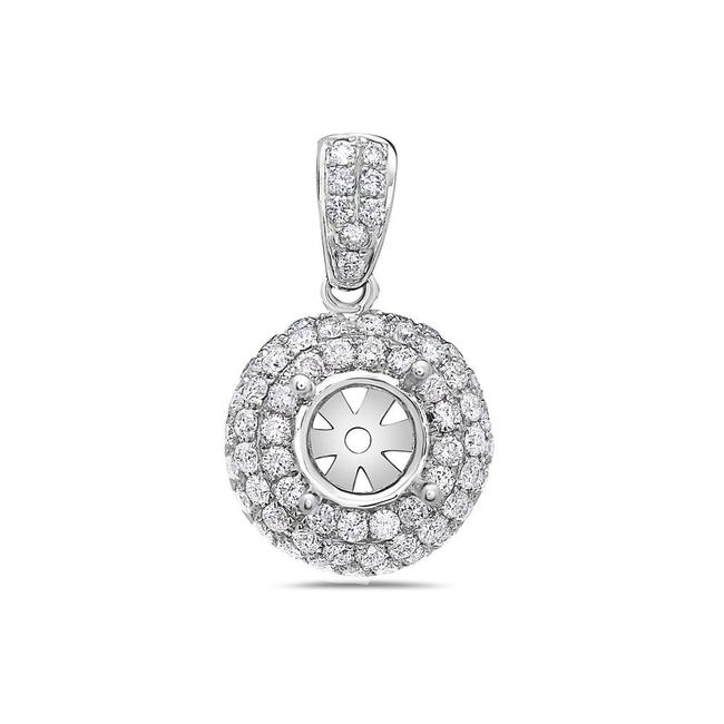 Item - 18k White Gold Asterisk Women's Pendant with 1.18 Ct Diamonds