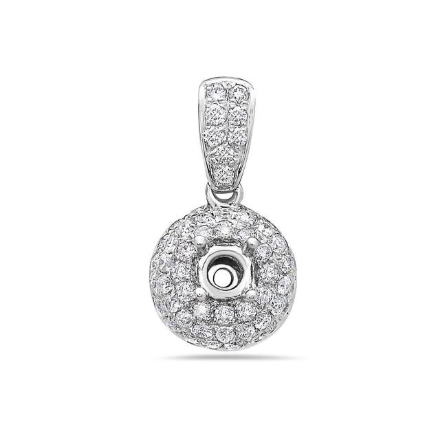 Item - 18k White Gold Women's Pendant with 0.72 Ct Diamonds