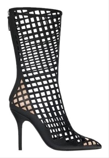 Preload https://img-static.tradesy.com/item/24807420/zara-black-new-openwork-leather-high-heeled-bootsbooties-size-us-9-regular-m-b-0-4-540-540.jpg