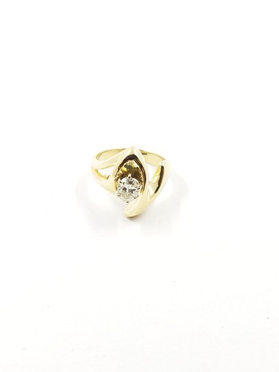 N/A Diamond Solitaire Ring .71 CT. Cushion Cut 14K Yellow Gold 8.06g Image 1