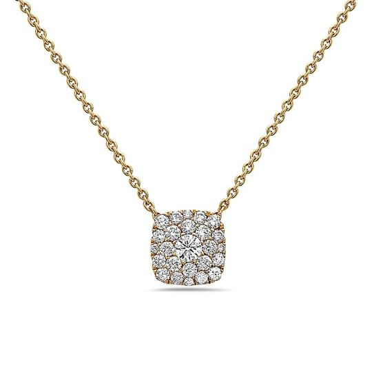 OMIJewelry 18K YELLOW GOLD SQUARE WOMEN'S NECKLACE WITH 0.51 CT DIAMONDS Image 2