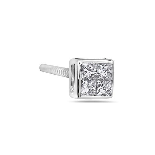 OMIJewelry 14K WHITE GOLD LADIES EARRINGS WITH 0.30 CT DIAMONDS Image 1
