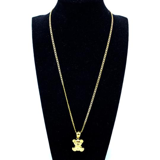 Other two tone link chain with bear pendant Image 1