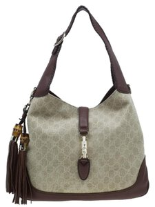 Gucci Canvas Monogram Hobo Bag