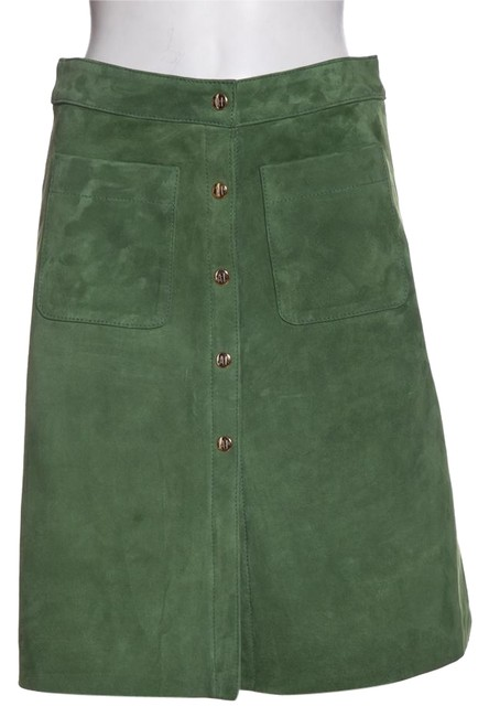 Preload https://img-static.tradesy.com/item/24807678/green-suede-skirt-size-4-s-27-0-1-650-650.jpg