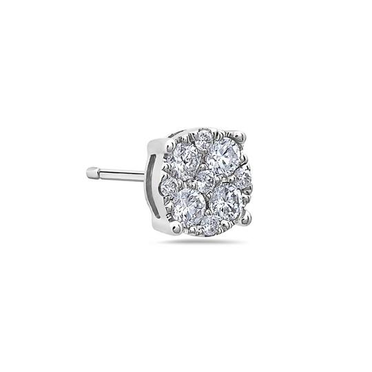 OMIJewelry 14K WHITE GOLD LADIES EARRINGS WITH 0.50 CT DIAMONDS Image 1