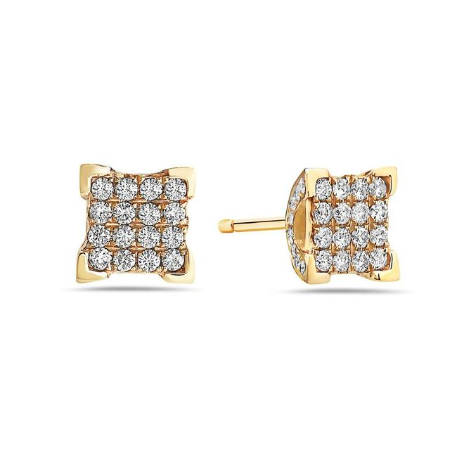 OMIJewelry 14k Yellow Gold Ladies with 0.75 Ct Diamonds Earrings OMIJewelry 14k Yellow Gold Ladies with 0.75 Ct Diamonds Earrings Image 1