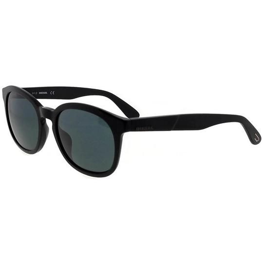 Diesel DL0190-01N-52 Oval Unisex Black Frame Green Lens Genuine Sunglasses Image 1