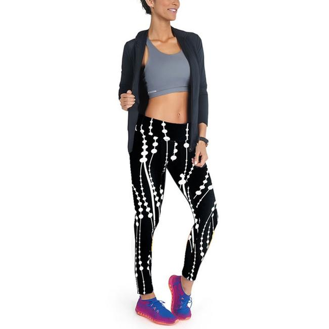 Blanca Line Black leggings with connecting white dots Image 2