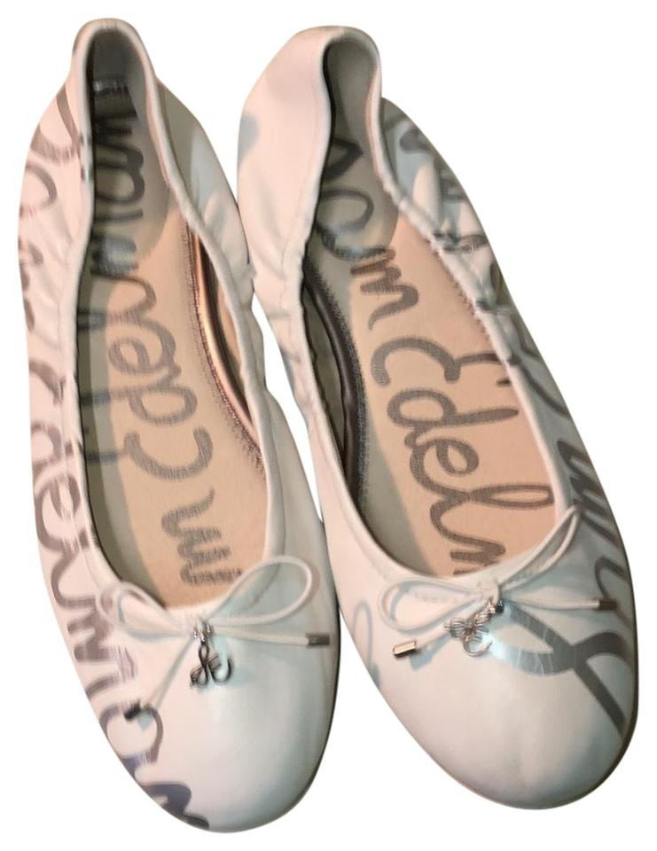 33d852a8cf78 Sam Edelman White Ballet with Bow Flats Size US 9.5 Regular (M