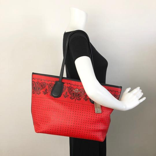Coach Tote in Red Image 1