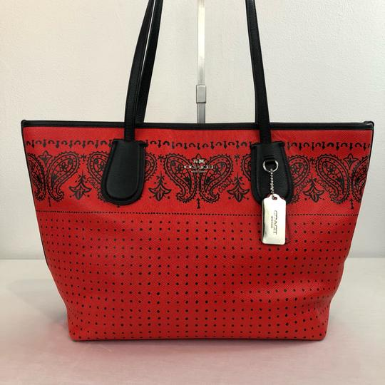 Coach Tote in Red Image 2