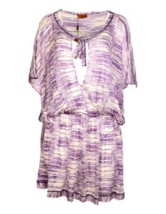 d24dc6add5 Missoni Purple/White Knit Caftan Tunic Beach Cover-up/Sarong Size 6 ...