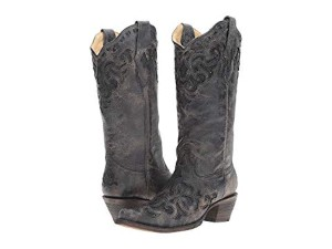 Corral Boots metallic grey black stingray Boots