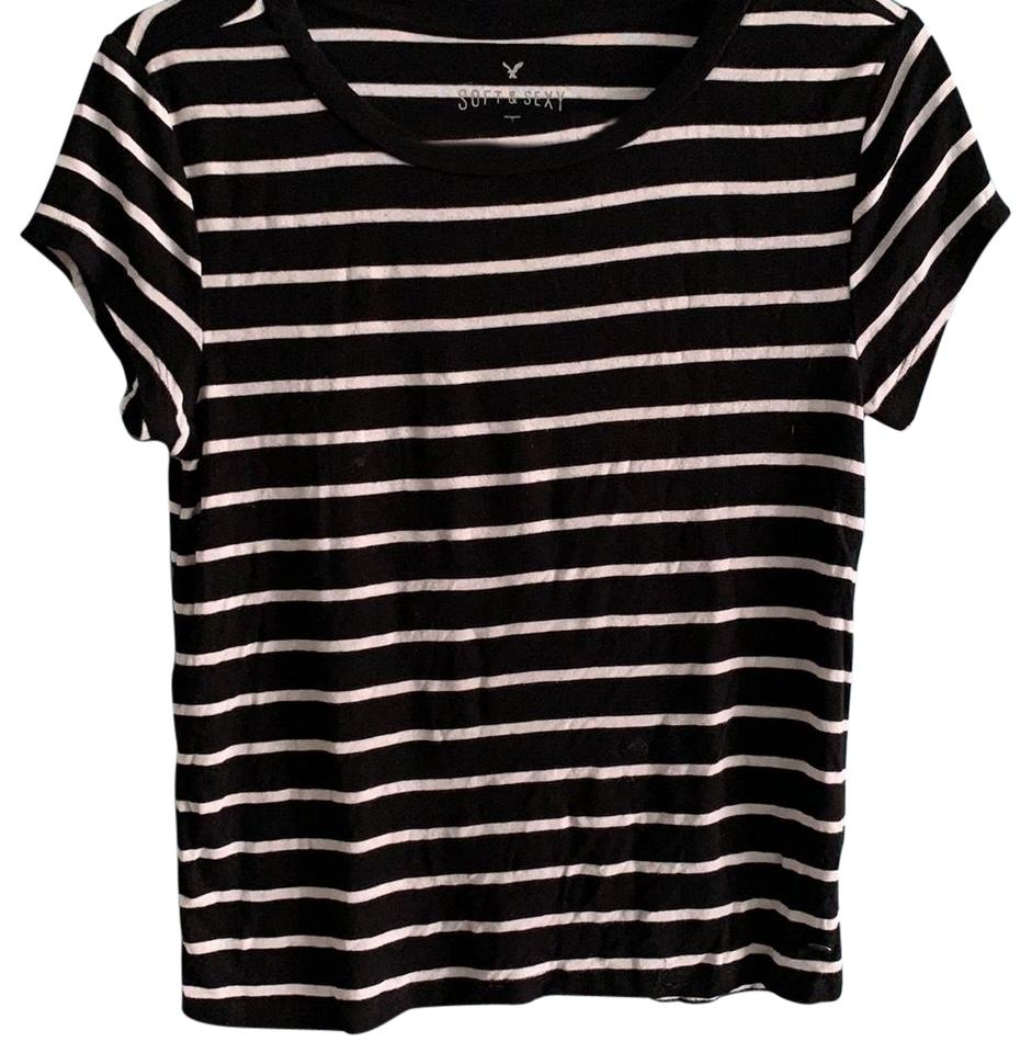 415e9aa9fe2 American Eagle Outfitters T Shirt Black and White stripes Image 0 ...