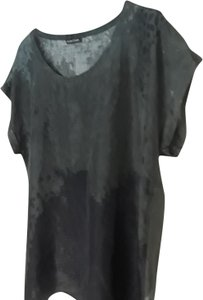 Eileen Fisher Top TWO TONE GRAY