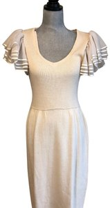 St. John short dress Cream on Tradesy