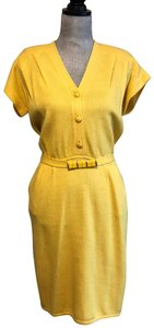 St. John short dress Yellow on Tradesy