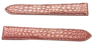 Cartier Pink Cartier pearly alligator strap