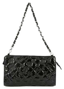 3d19805a0bfb Chanel Symbols Icons Sac Pochette Embossed Black Patent Leather ...