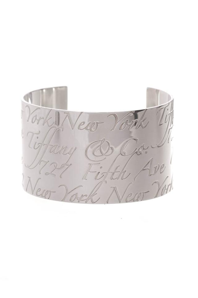 66defd18bc84f Tiffany & Co. Silver Notes Wide Cuff Bracelet 20% off retail