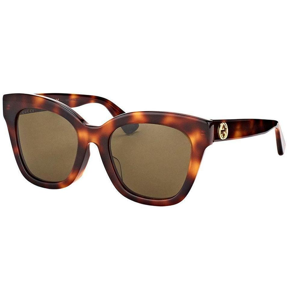 d5aaba14c6 Gucci Havana Frame   Brown Lens Womne Sunglasses - Tradesy