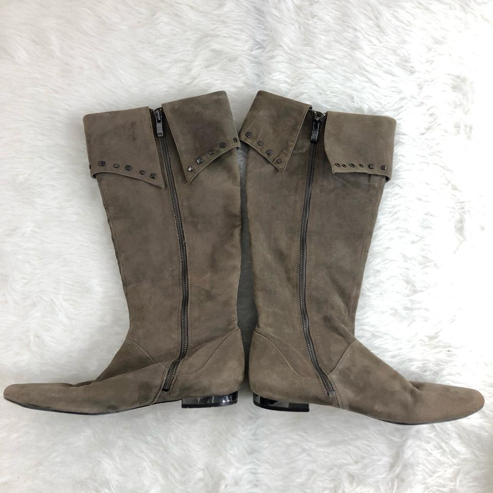 717fb9b8d Saks Fifth Avenue Ash Alex Stud Fold-over Cuff Suede Leather Boots/Booties  Size US 8 Regular (M, B) - Tradesy