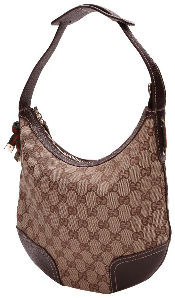 12909600bdcbe8 Gucci Small Princy - Signature Beige Canvas Hobo Bag - Tradesy