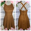 Express short dress Brown on Tradesy