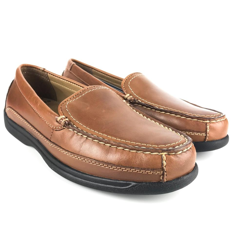 99cc4c18045 Dockers Brown New Mens Catalina Saddle Casual Slip-on Flats Size US ...