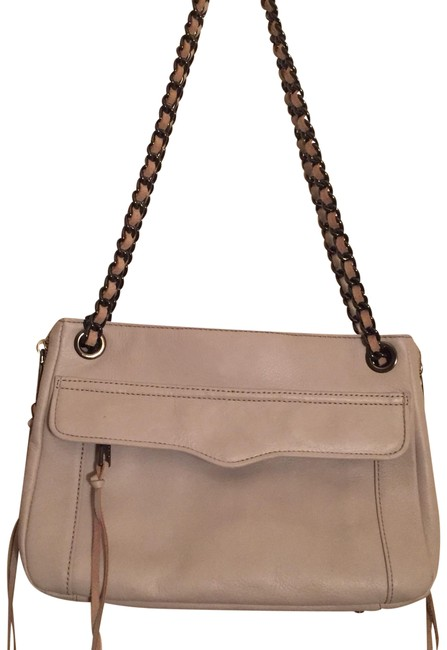 Item - Crossbody Swing Putty/Off White Leather Shoulder Bag