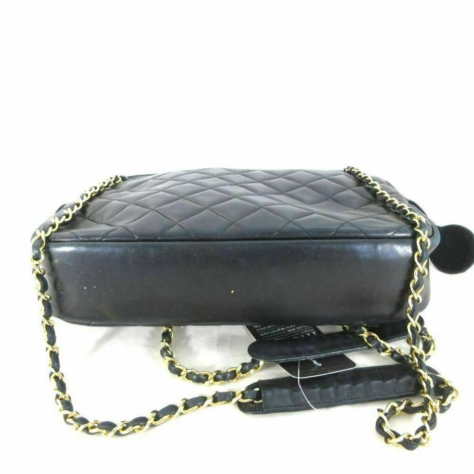 31ca65a01f6b Chanel Vintage Leather Purse Wallet Tote in Black Image 9. 12345678910