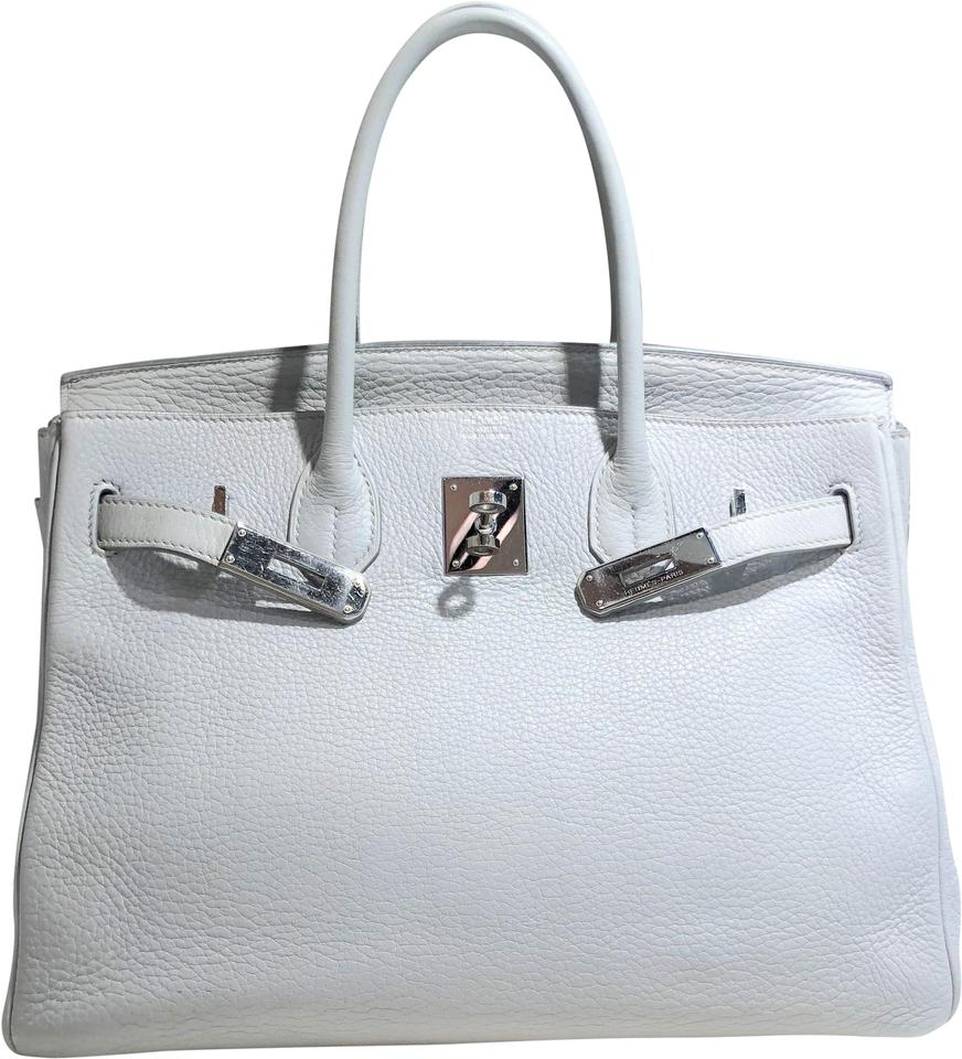 bca25827568 Hermès Birkin 30 Cm Togo Grained Light Gray Chalk Craie Silver ...
