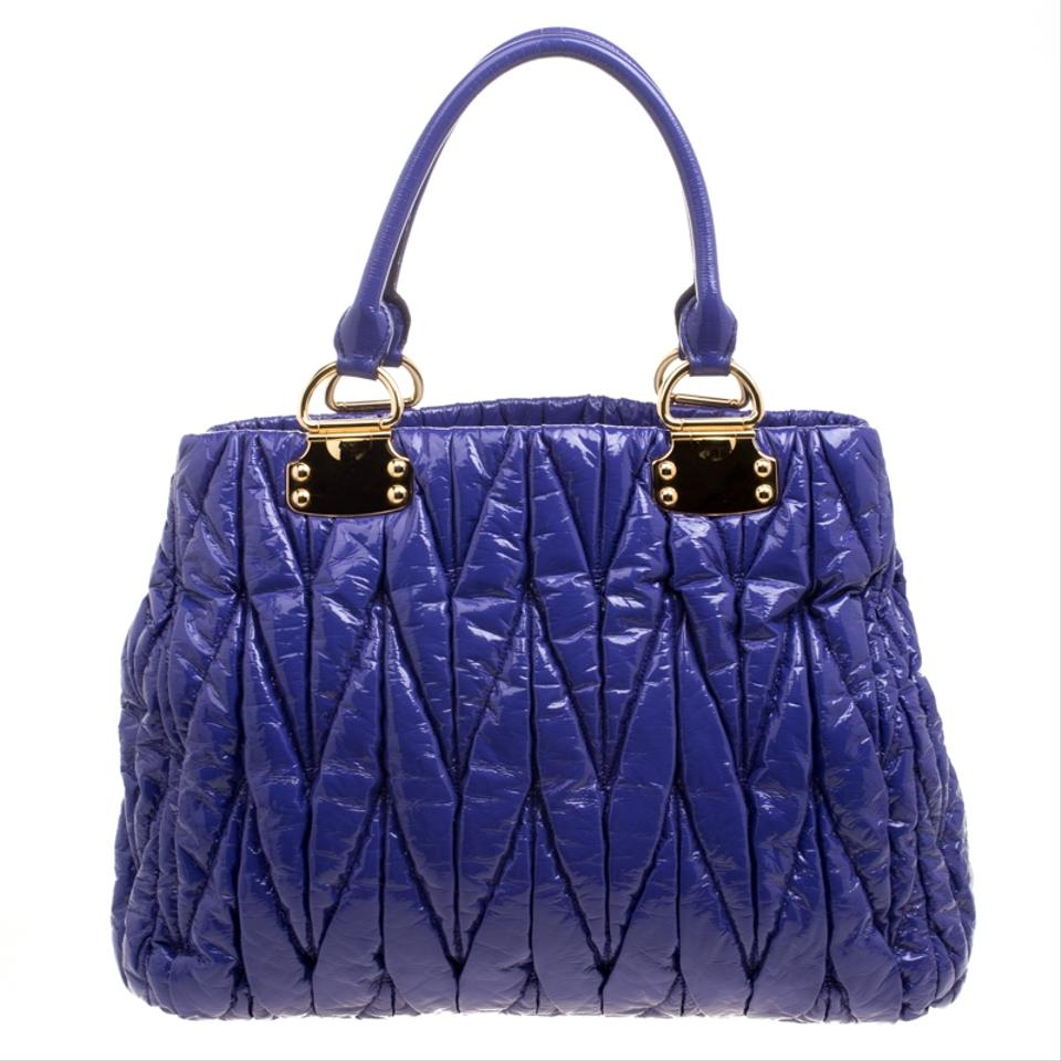 83349379aeae Miu Miu Lilac Matelasse Shopper Purple Patent Leather Tote - Tradesy