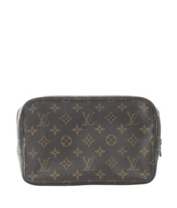 Louis Vuitton Cosmetic Coated Canvas Brown Travel Bag