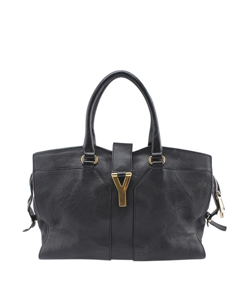 Saint Laurent ChYc Cabas Med (159472) Black Leather Satchel - Tradesy 6169d25670ca7