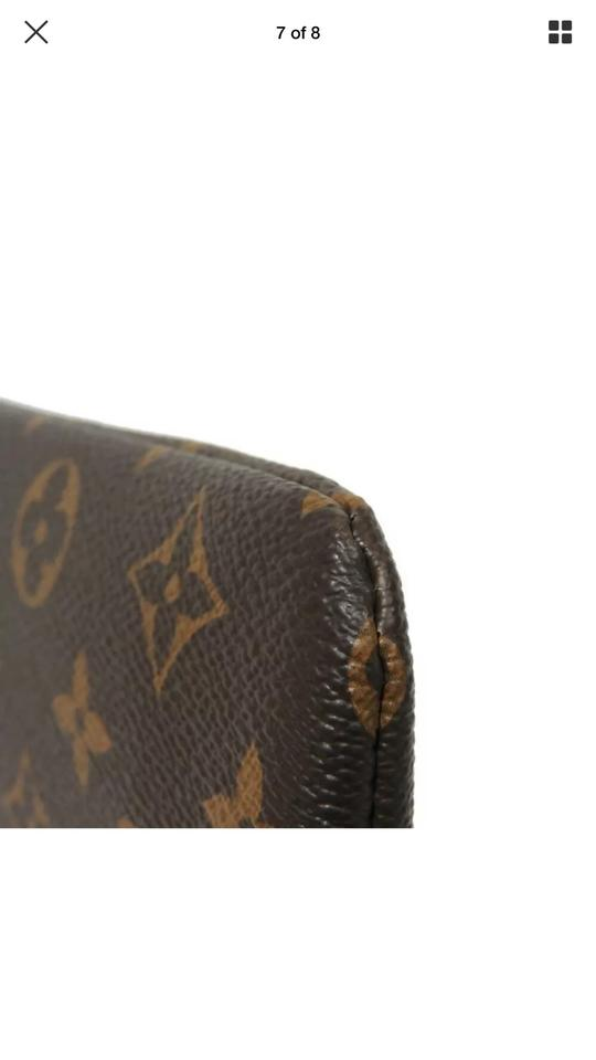 769093f40d Louis Vuitton Pochette Monogram Daily Pouch Black Coated Canvas Clutch 13%  off retail