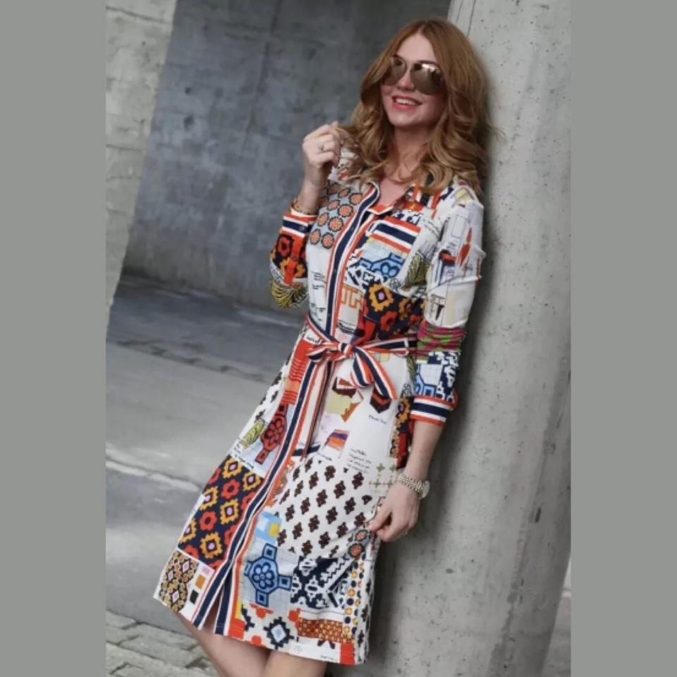 095be5fd3b0 Tory Burch Laurence Scrapbook Shirtdress Mid-length Short Casual ...