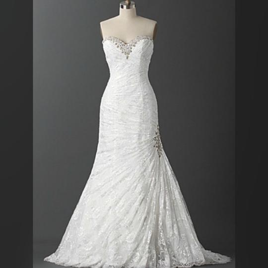 Alfred Angelo White/Silver The Juliet: Luxe Gown - Style 2396 Formal Wedding Dress Size 18 (XL, Plus 0x) Image 2