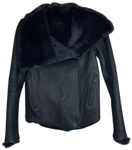 Helmut Lang Reversible Rabbit Fur Moto Leather Jacket