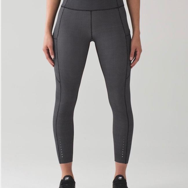 a4c912560 Lululemon Fast and Free Teeny Check Print Leggings Size 4 (S
