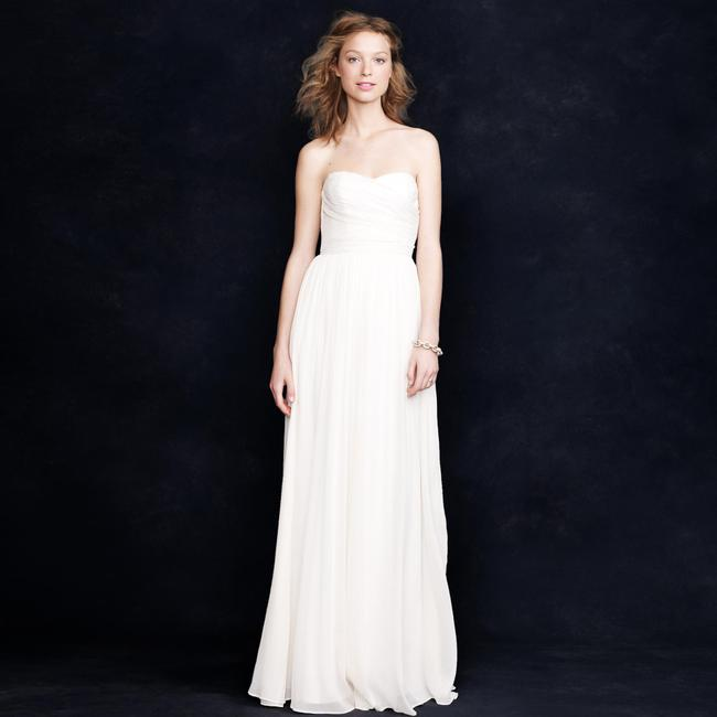 Item - Ivory Silk Chiffon Arabelle Feminine Wedding Dress Size 10 (M)